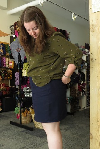 fo: Navy Hummingbird Skirt