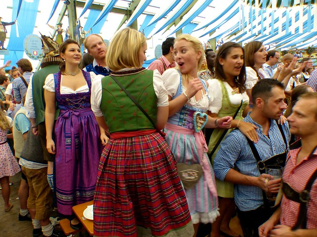 Oktoberfest in Munich: inside the tent