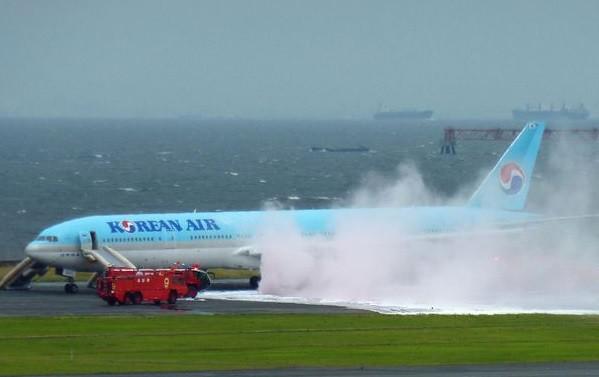 Kigyulladt a Korean Air triplahetesének hajtóműve Tokióban