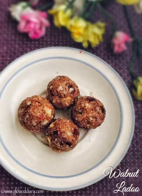 Walnut Ladoo Recipe For Babies, Toddlers and Kids1