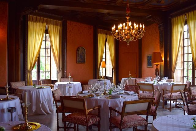 Dining Room at Chateau de la Treyne | www.rachelphipps.com @rachelphipps