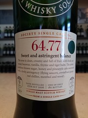 SMWS 64.77 - Sweet and astringent balance