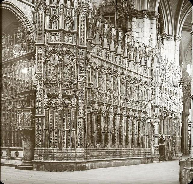 Catedral hacia 1905 fotografiado por Alois Beer. Fotografía editada y publicada por E. Mazo para linterna mágica MTFFD026486_P