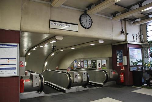 Northern Line Escalators at Kentish Town
