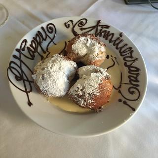 Amuse Restaurant dessert Beignets, Ashland Oregon 2 July 2016
