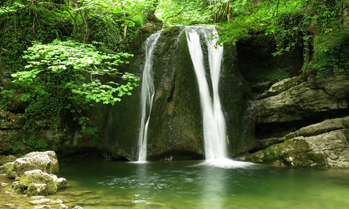 Janet's Foss waterfall on our Malham walk in the Yorkshire Dales of England