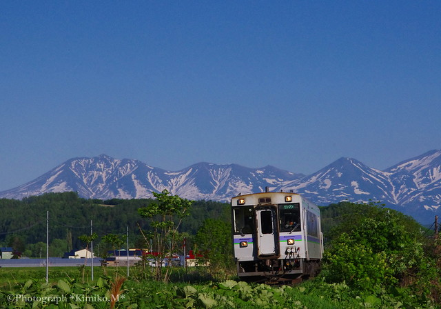 JR富良野線 北美瑛駅~千代ヶ岡駅間2