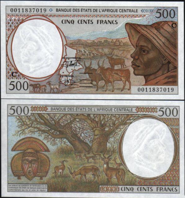 500 Frankov Kongo (Central African States) 1993-2002, Pick 101C