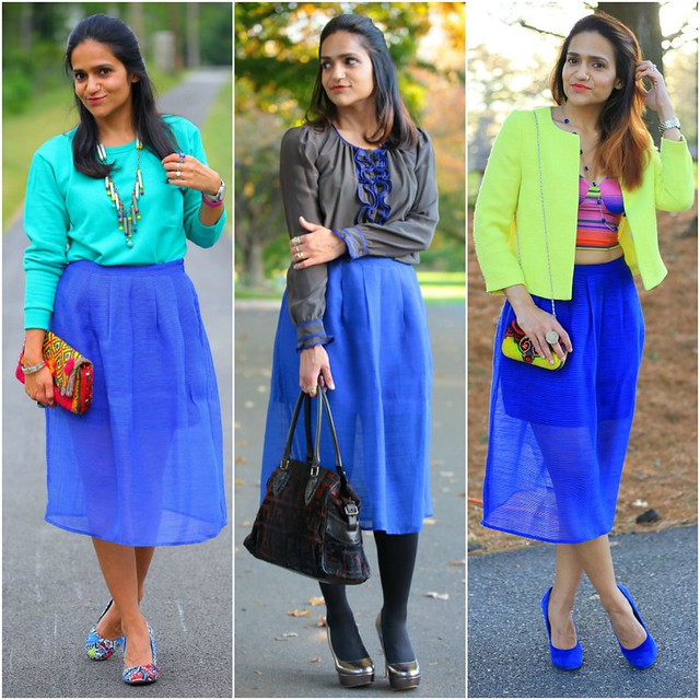 09_Three Ways To Style A Blue Skirt Tanvii.com