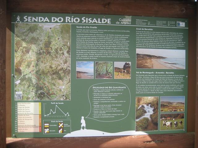 Panel Informativo de la Senda do río Sisalde en Arteixo