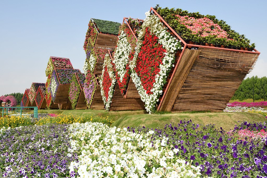 Exhibit at Miracle Garden in Dubai, United Arab Emirates