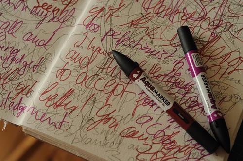 radical wellness art journaling page