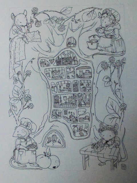 Hedgefairy: Brambly Hedge Tribute - Outlines