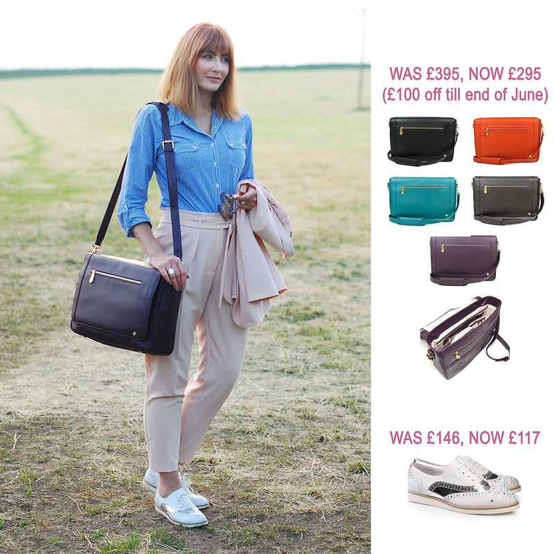 Summer Sales Picks SS16 - Jennifer Hamley Model KT workbag, Kelya silver and white brogues | Not Dressed As Lamb