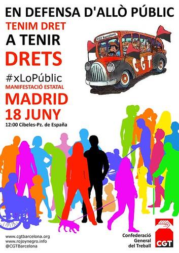 Manifestació 18 juny a Madrid