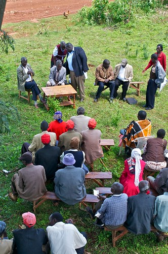 A Community baraza (meeting) in progress at Chemoge Location, Mt Elgon | by UNDP KENYA