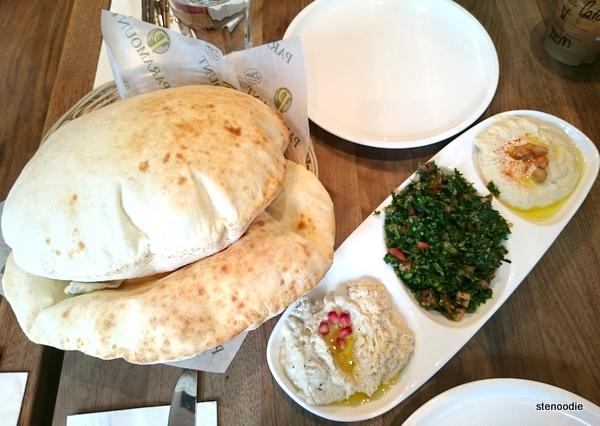 Mezze Plate and pita bread