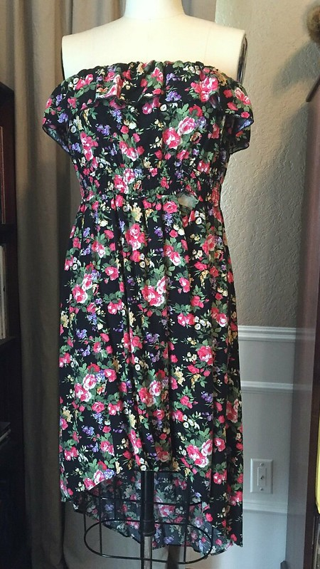 Floral T-Shirt Dress Refashion - Before