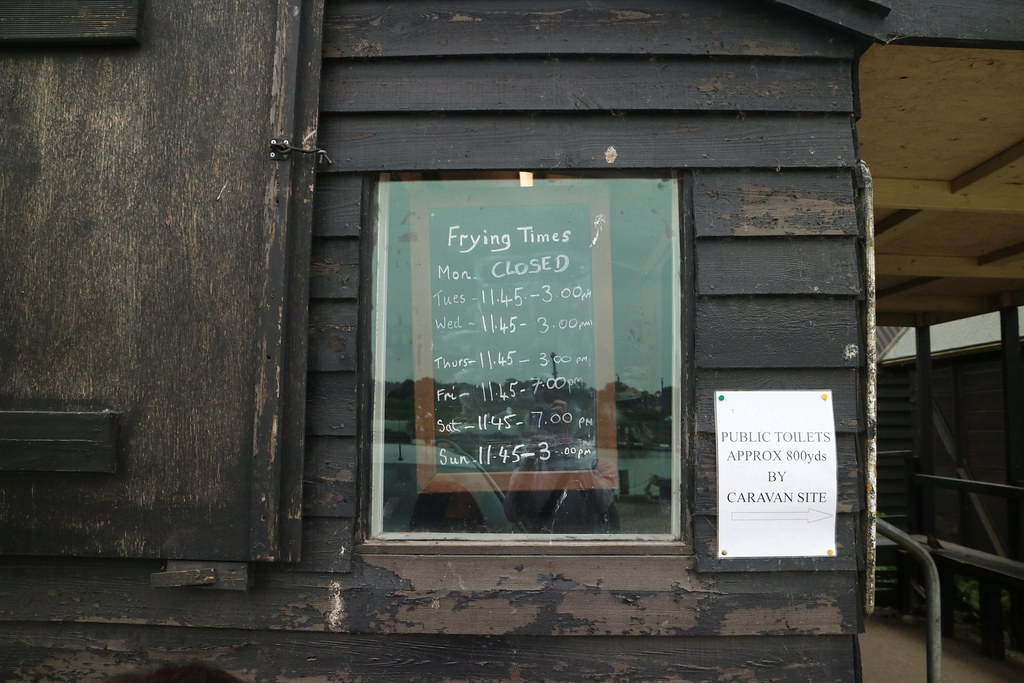 Fish and chips in Southwold opening times