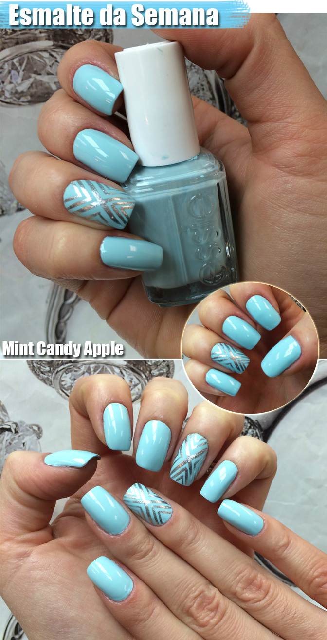 Unhas Mint candy apple