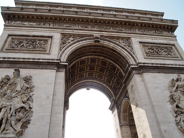 P5281803 エトワール凱旋門(アルク・ドゥ・トリヨーンフ・ドゥ・レトワール/Arc de triomphe de l'Étoile) パリ フランス paris france