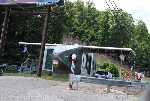 Airplane Filling Station (John's Barber Shop) in Powell, Tennessee