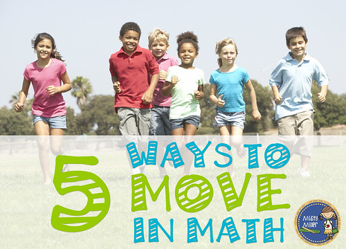 5 Ways to Move in Math | moving in math class | math activities | trashketball | math tag relay