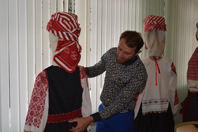 Alexei Belas and folk costumes