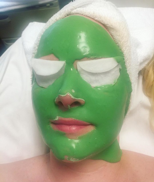 Had my first facial today, thanks to a Groupon. 💚