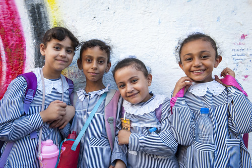 Primary school students in Gaza City. | by World Bank Photo Collection