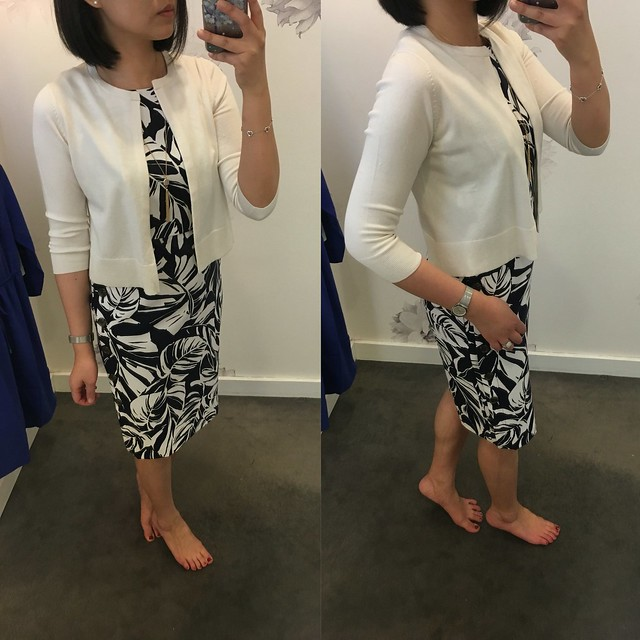 Ann Taylor Silk Cotton Cropped Cardigan