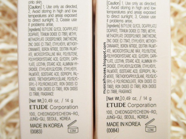 Etude House Real Powder Cushion Review Ingredients