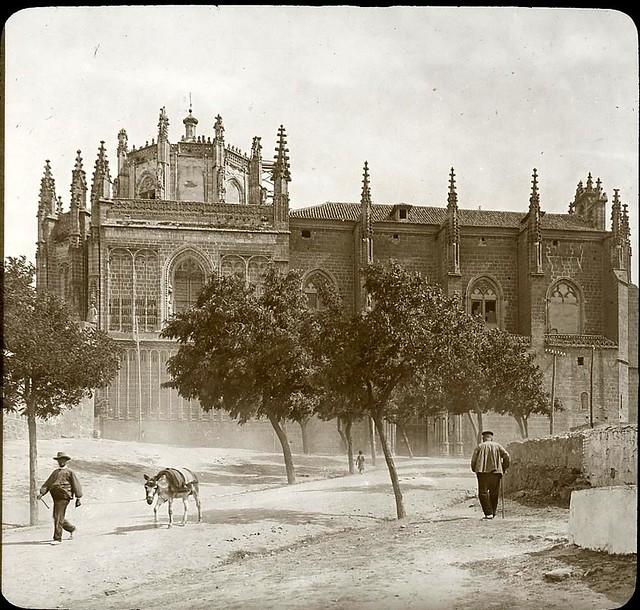 San Juan de los Reyes hacia 1905 fotografiado por Alois Beer. Fotografía editada y publicada por E. Mazo para linterna mágica MTFFD027813_P
