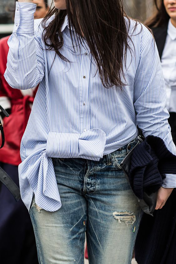 knotted shirt inspiration street style fashion outfit1