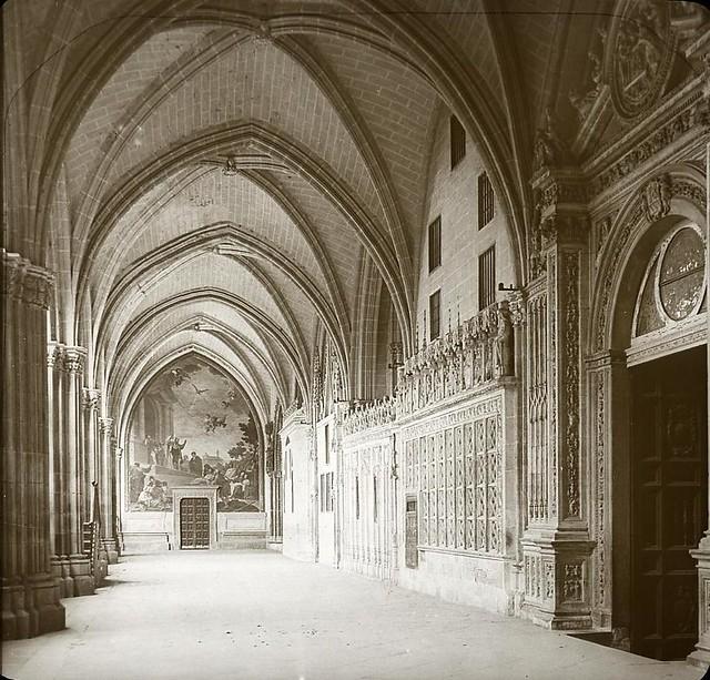 Catedral hacia 1905 fotografiado por Alois Beer. Fotografía editada y publicada por E. Mazo para linterna mágica MTFFD027809_P