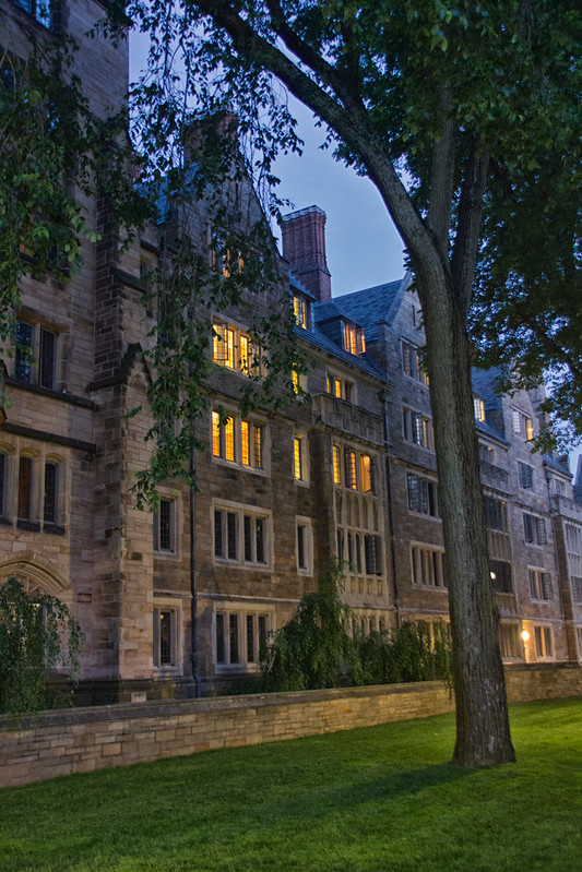 Yale University at Night