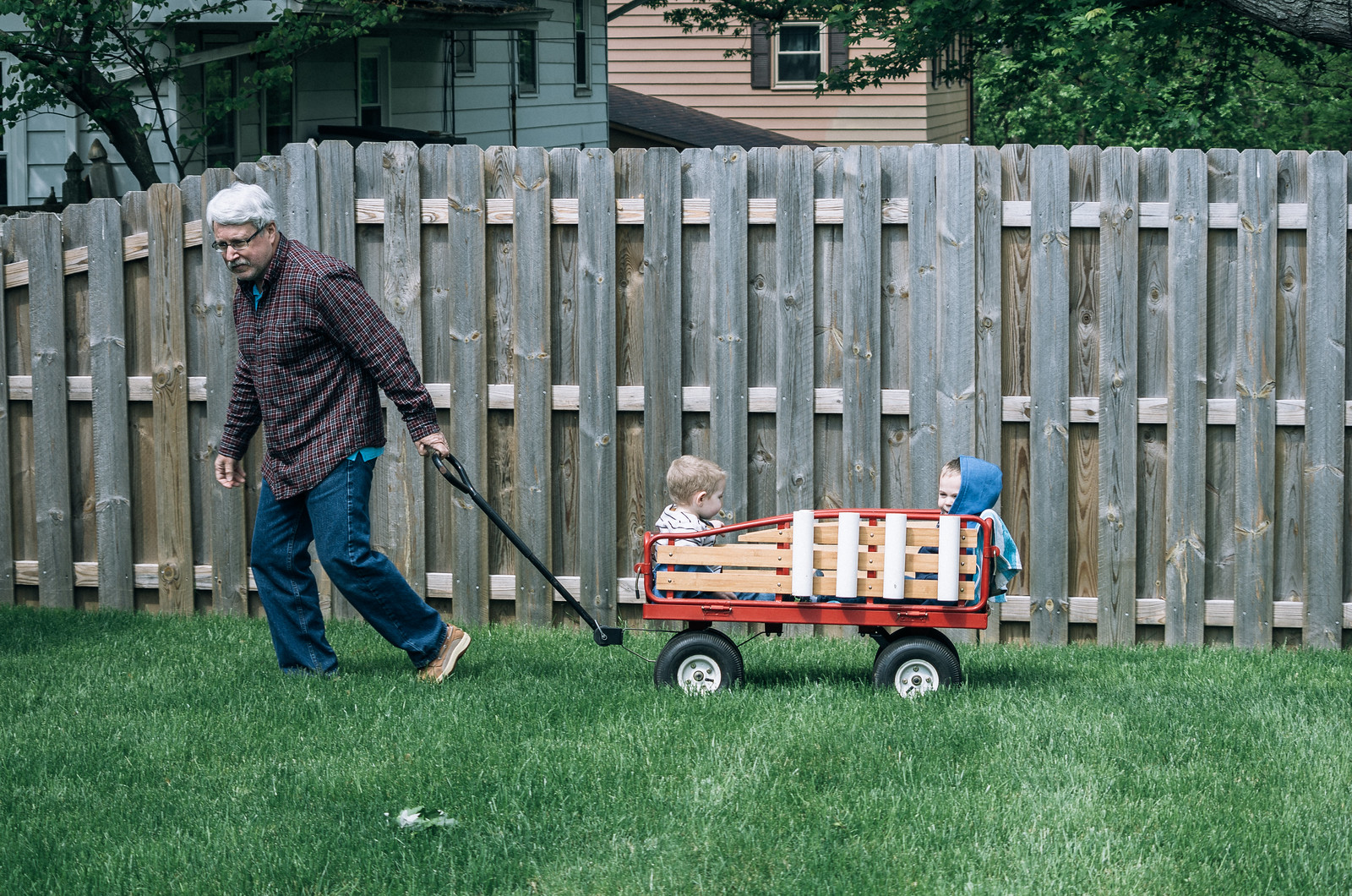 Wagon ride with Grandpa