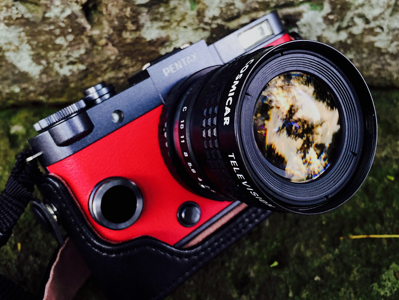 PENTAX Q-S1&COSMICAR CCTV Camera Lens 8.5 F1.5