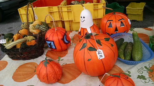 Painted Pumpkins and Gourds