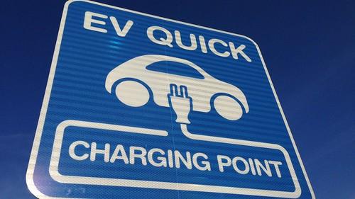 電気自動車用 充電スポット(EV急速充電器) 看板