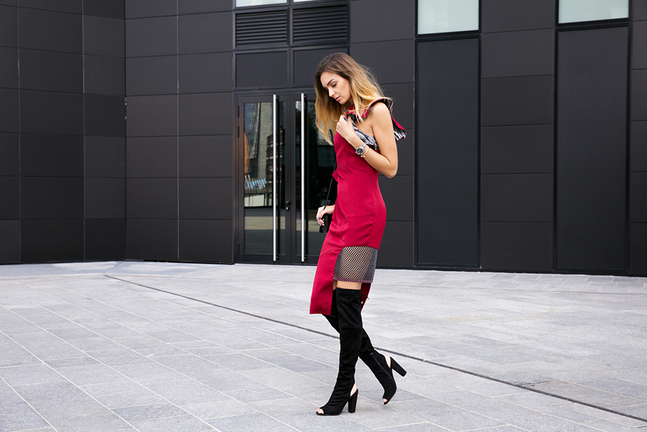 burgundy-dress-overknee-boots-street-style-outfit