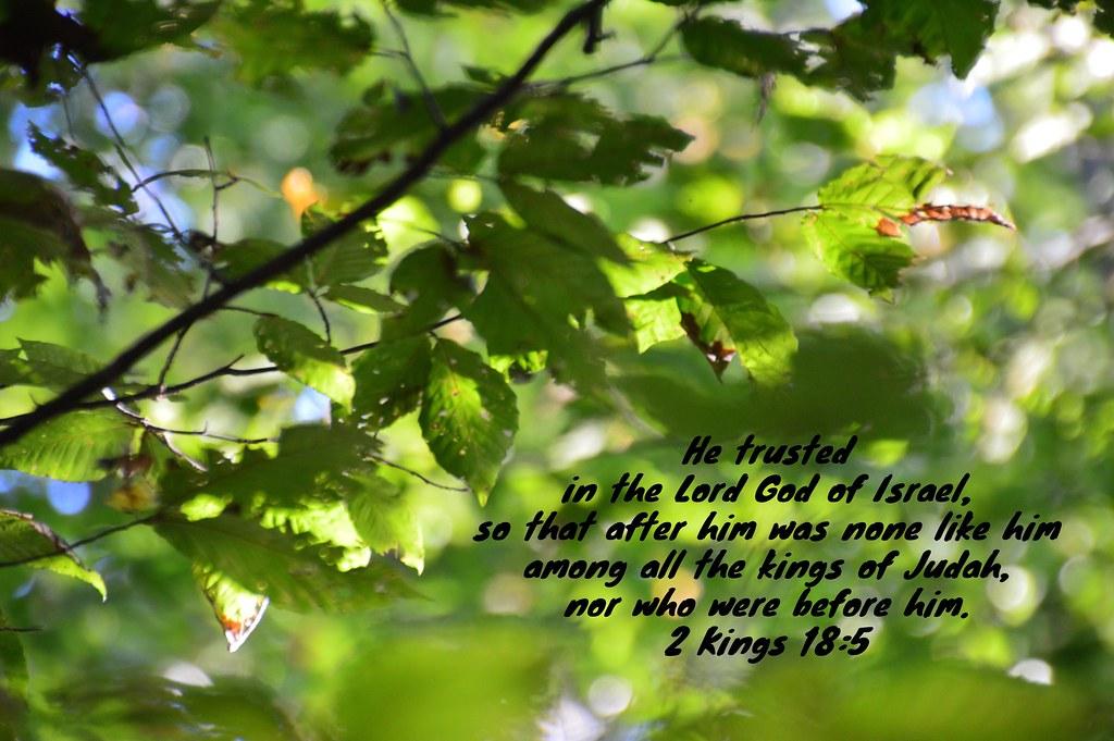 2 Kings 18:5