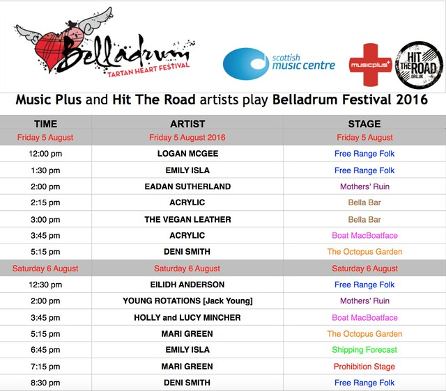 Music Plus and Hit The Road artists perform at Belladrum Tartan Heart Festival 2016