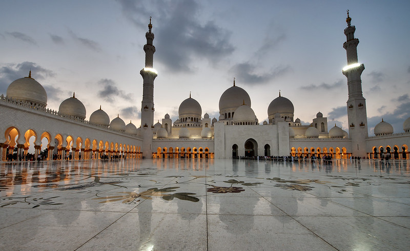 "Photo ""Grand Mosque As the light started to fade"" by mattharvey1 as seen on Flickr. Used under CC BY-ND 2.0"
