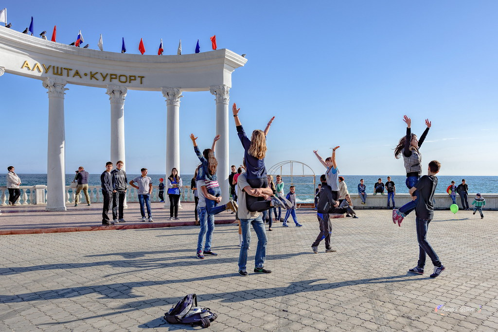 Rehearsal on the seafront