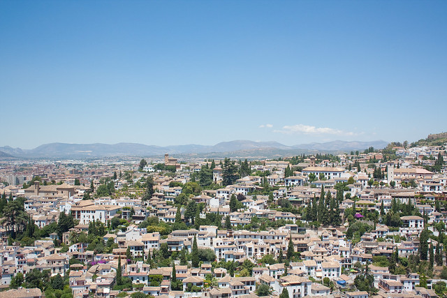 View of Granada, Spain from the Alhambra