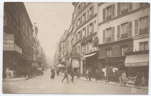 rue des martyrs 1920