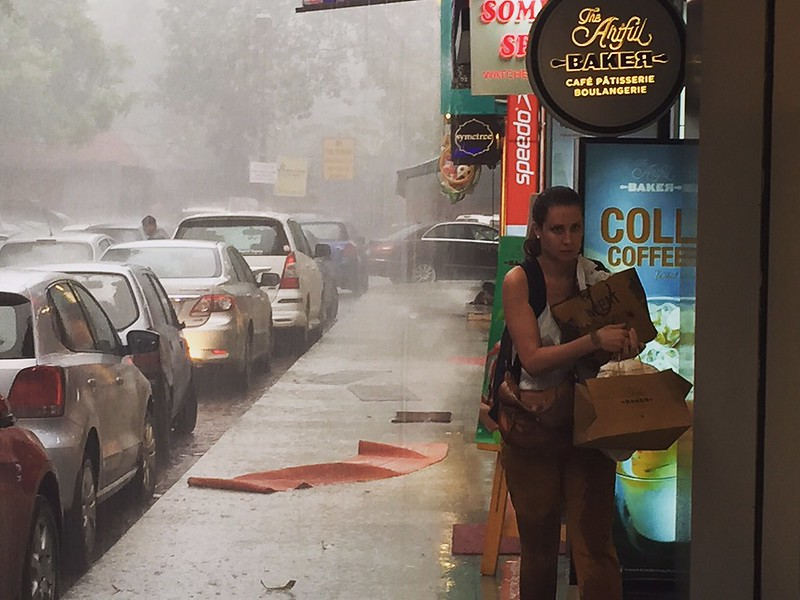 City Season - The First Monsoon Shower, Khan Market