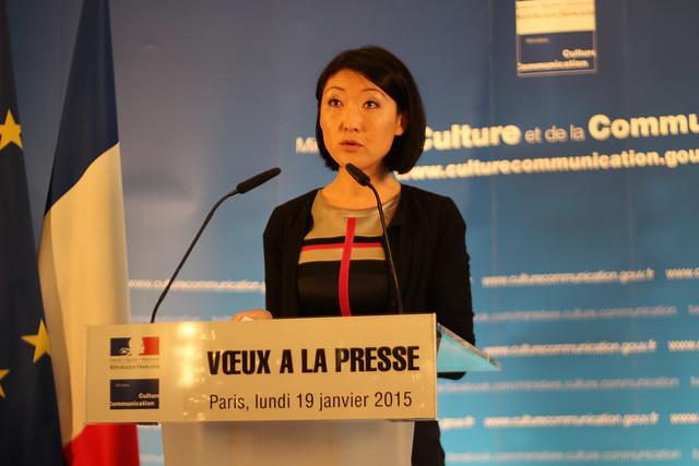 Fleur Pellerin, ministre de la Culture et de la Communication - Voeux à la presse 2015
