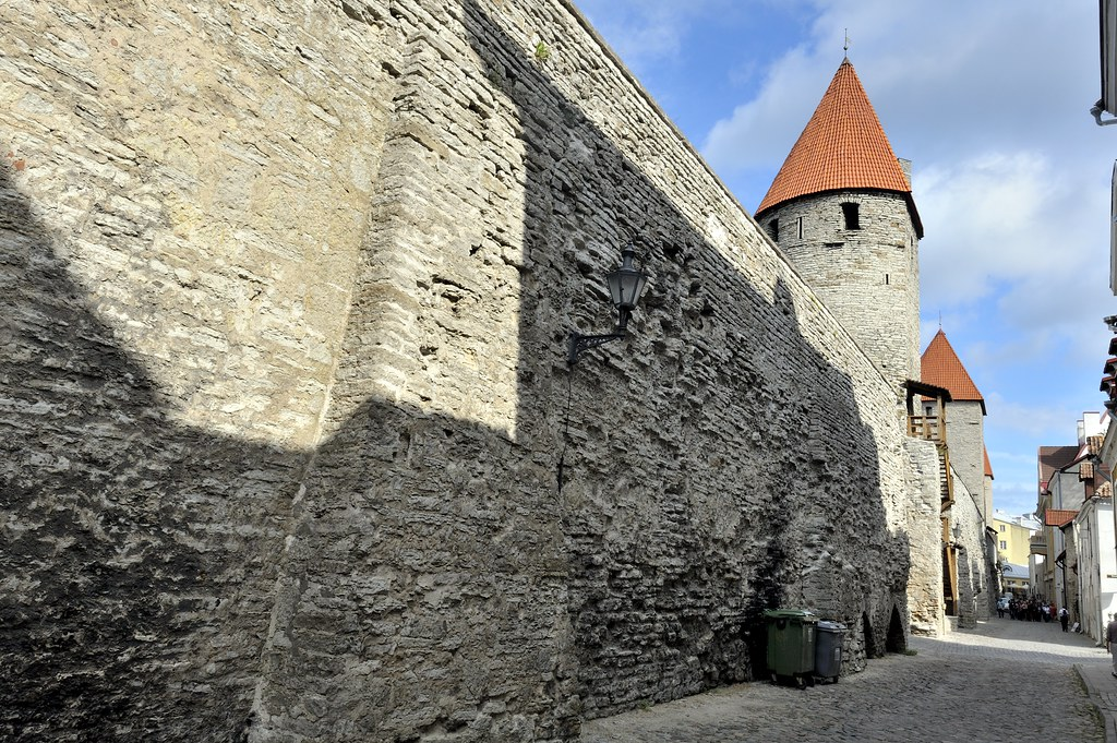 Plate Tower and Epping Tower, City Walls, Tallinn, Estonia